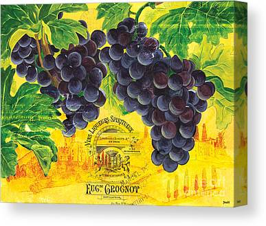 Grape Leaves Canvas Prints
