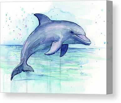Bottlenose Dolphins Canvas Prints