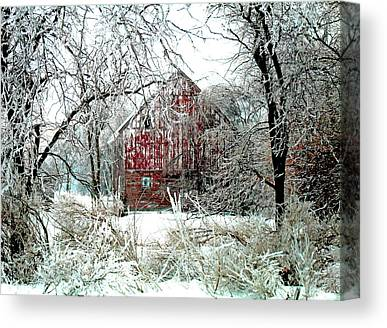 Rural Decay Digital Art Canvas Prints