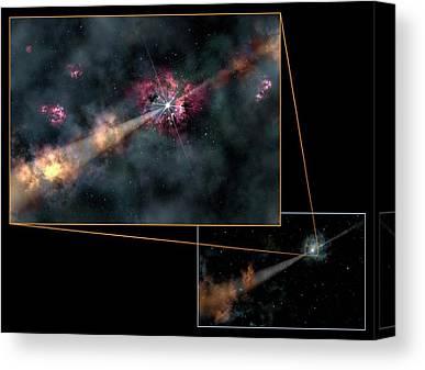 Gamma Ray Burst Canvas Prints
