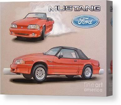 Mustang 5.0 Canvas Prints