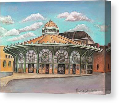 Carousel House Paintings Canvas Prints