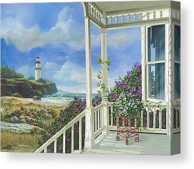 Porch Canvas Prints