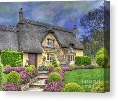 Country Cottage Photographs Canvas Prints