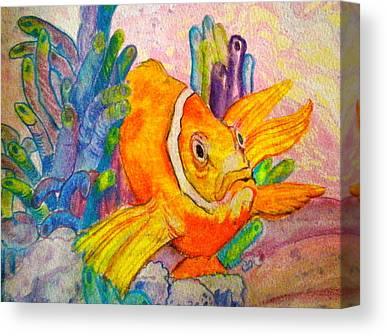 Clown Fish Mixed Media Canvas Prints