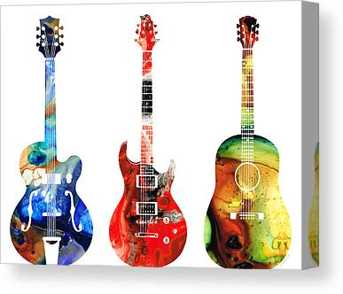 Electric Guitars Canvas Prints