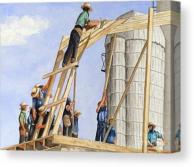 Amish Farms Canvas Prints