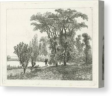 Willow Lake Drawings Canvas Prints