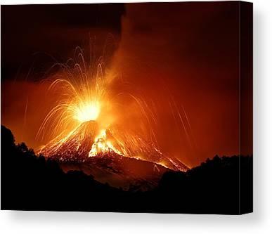 Mount Etna Canvas Prints