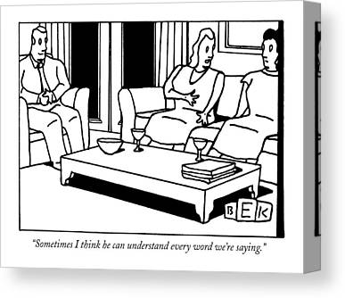Communication Problems Canvas Prints