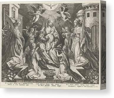St Barbara Drawings Canvas Prints