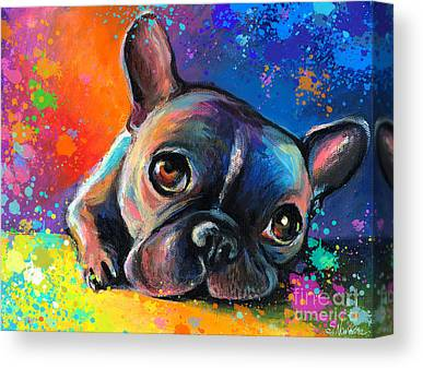 French Bulldog Canvas Prints