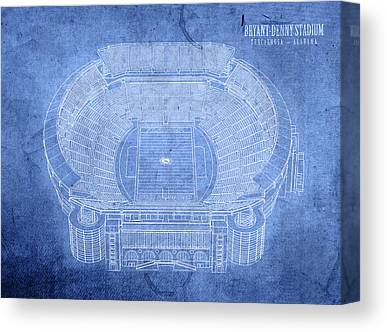 Bryant Denny Stadium Canvas Prints