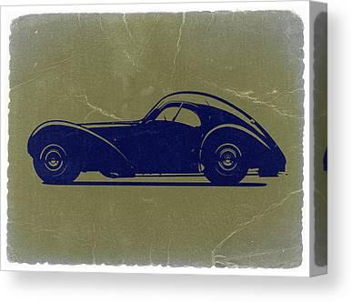 Bugatti 57 S Atlantic Canvas Prints