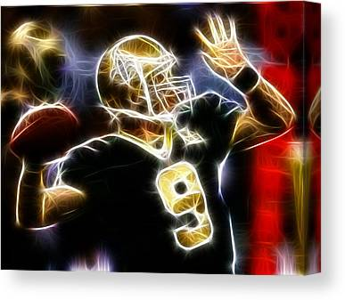 Drew Brees Canvas Prints