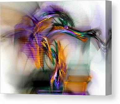 Contemporary Digital Art Canvas Prints