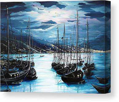 Yachts Canvas Prints