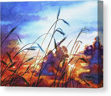 Prairie Skies Art Canvas Prints