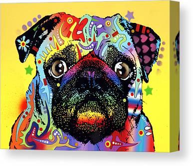 Puggle Canvas Prints
