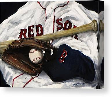 Baseball Gloves Canvas Prints
