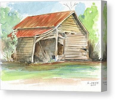 Rusty Tin Roof Canvas Prints
