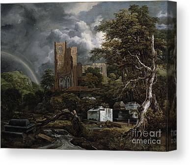 Cemetary Paintings Canvas Prints