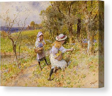 Collecting Flower Bouquets Canvas Prints