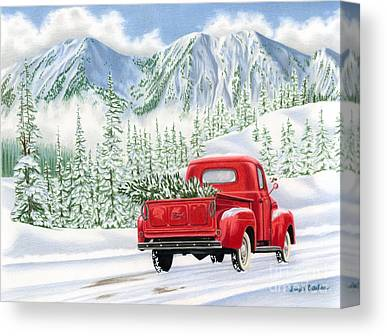 Snowy Mountain Canvas Prints
