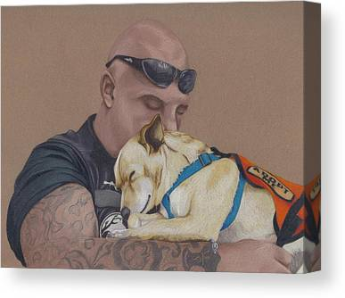 Canine Drawings Canvas Prints