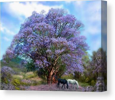 Jacaranda Tree Canvas Prints