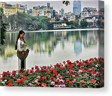 Vietnamese Model Canvas Prints