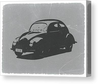 Old Car Digital Art Canvas Prints