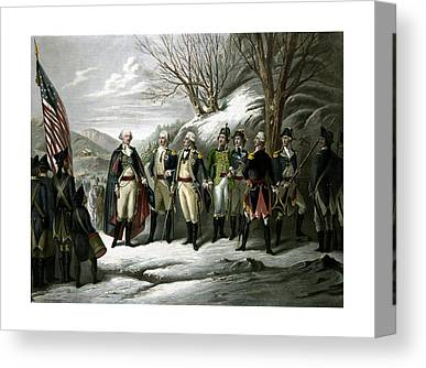 American Army Drawings Canvas Prints
