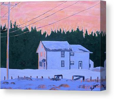 Maine Farmhouse Canvas Prints