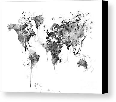 World Map Poster Mixed Media Limited Time Promotions