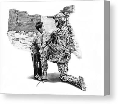 Veteran Drawings Canvas Prints
