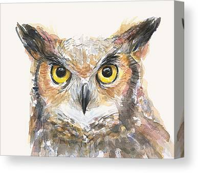 Great Horned Owl Canvas Prints