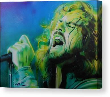 Pearl Jam Musicians Canvas Prints