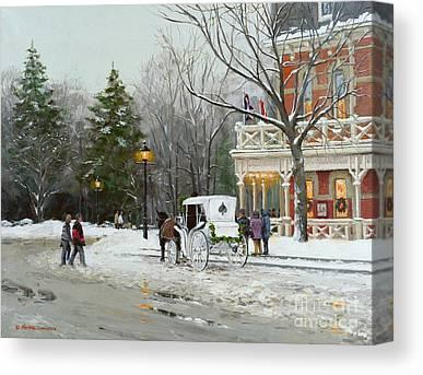 Niagara Carriage Canvas Prints