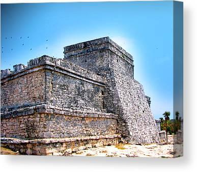 Archeology Mixed Media Canvas Prints