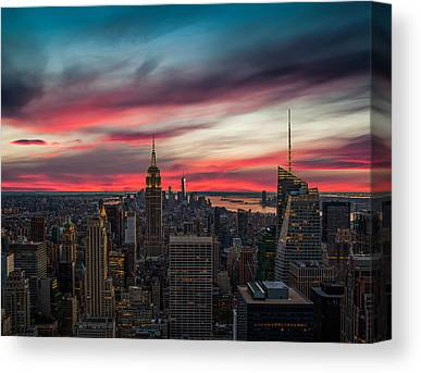 New York City Skyline Photographs Canvas Prints
