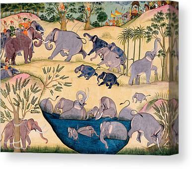 Elephant Drawings Canvas Prints