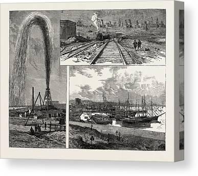 Wells Harbor Canvas Prints