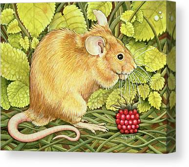 Mouse Paintings Canvas Prints