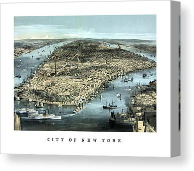 River View Mixed Media Canvas Prints
