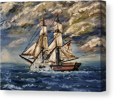 Historic Schooner Paintings Canvas Prints