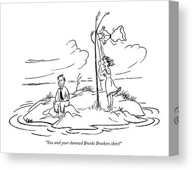 South Pacific Drawings Canvas Prints