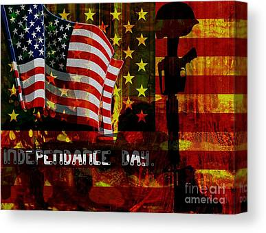 American Independance Mixed Media Canvas Prints