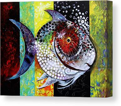Famous Fish Abstract Canvas Prints