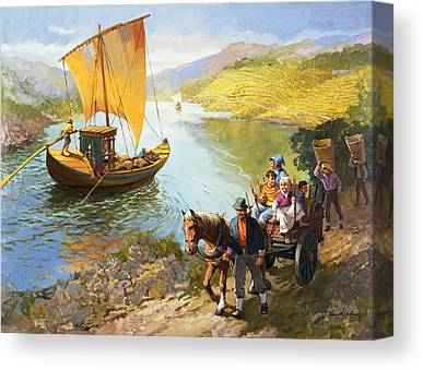 The Grape-pickers Of Portugal Canvas Prints